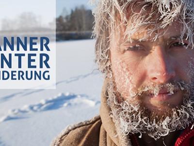 Männer-Winter-Wanderung